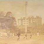 Stade Damette à Hazebrouck dans les années 1970