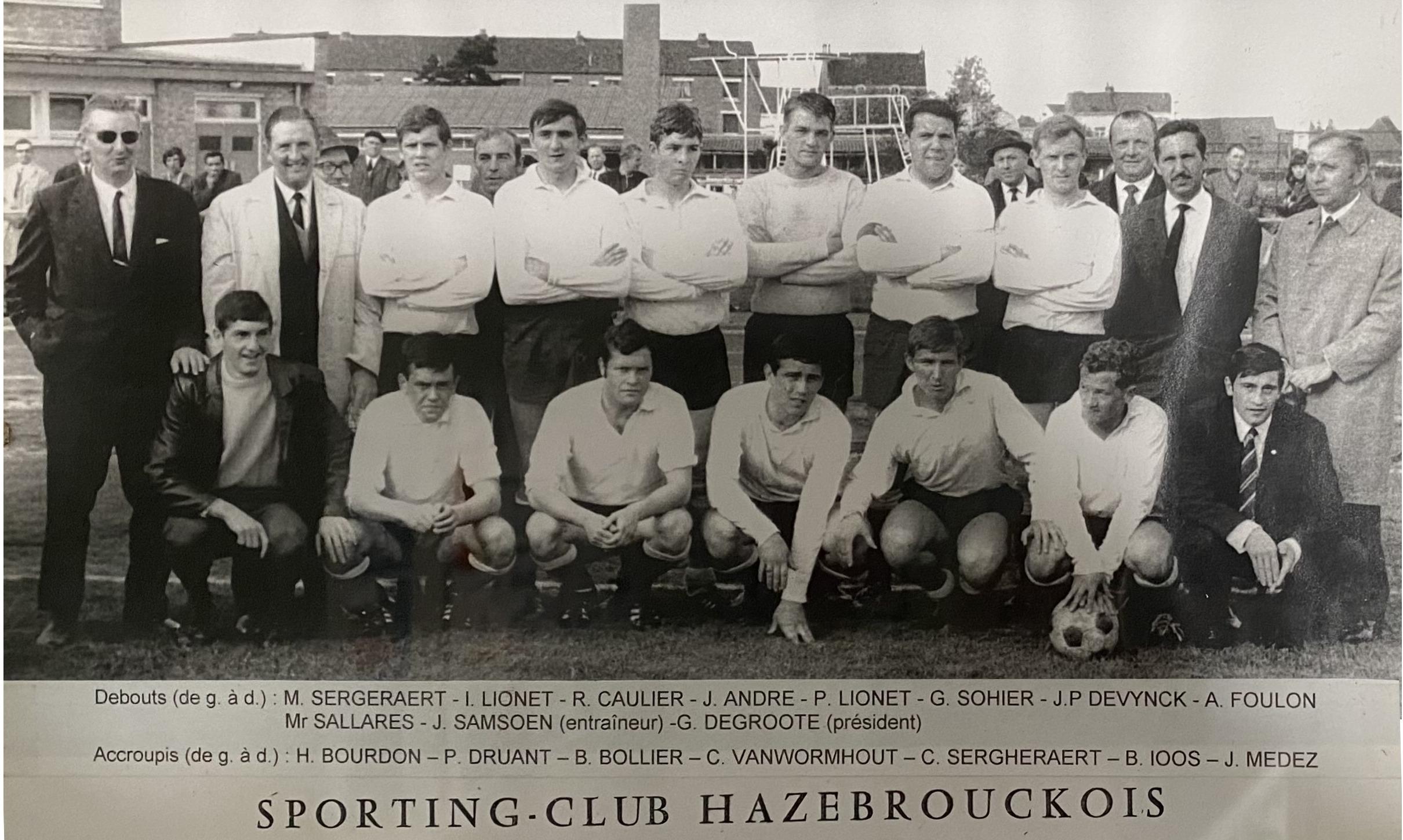 SC Hazebrouck champion Promotion Honneur en 1967 1968
