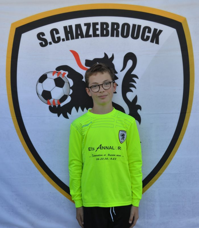 U13 Anthime Ammeux SCH SC Hazebrouck Sporting Club 2021