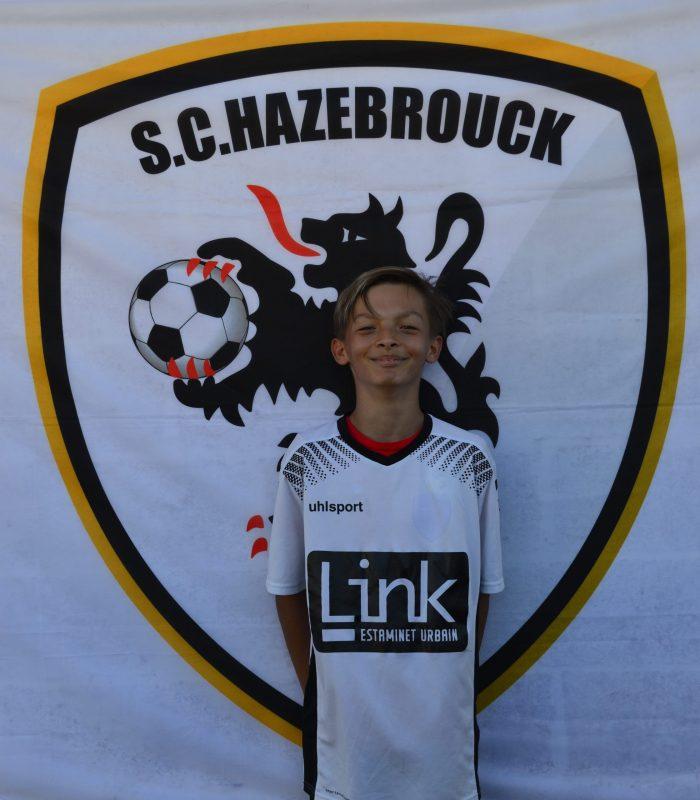 U13 Baude Yael SCH SC Hazebrouck Sporting Club 2021