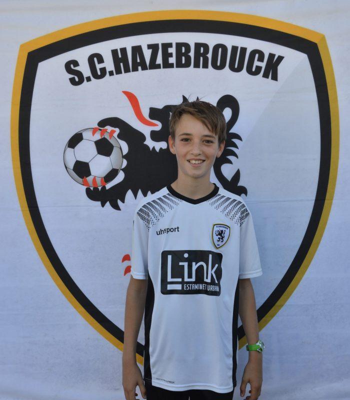 U13 Boddaert Augustin SCH SC Hazebrouck Sporting Club 2021