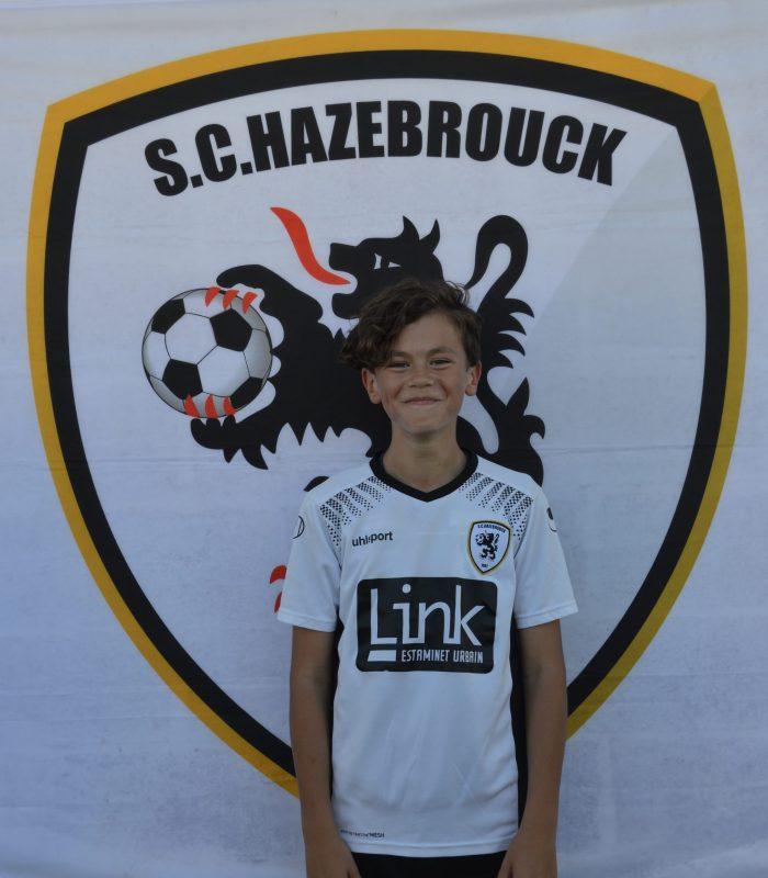 U13 Depecker Theo SCH SC Hazebrouck Sporting Club 2021