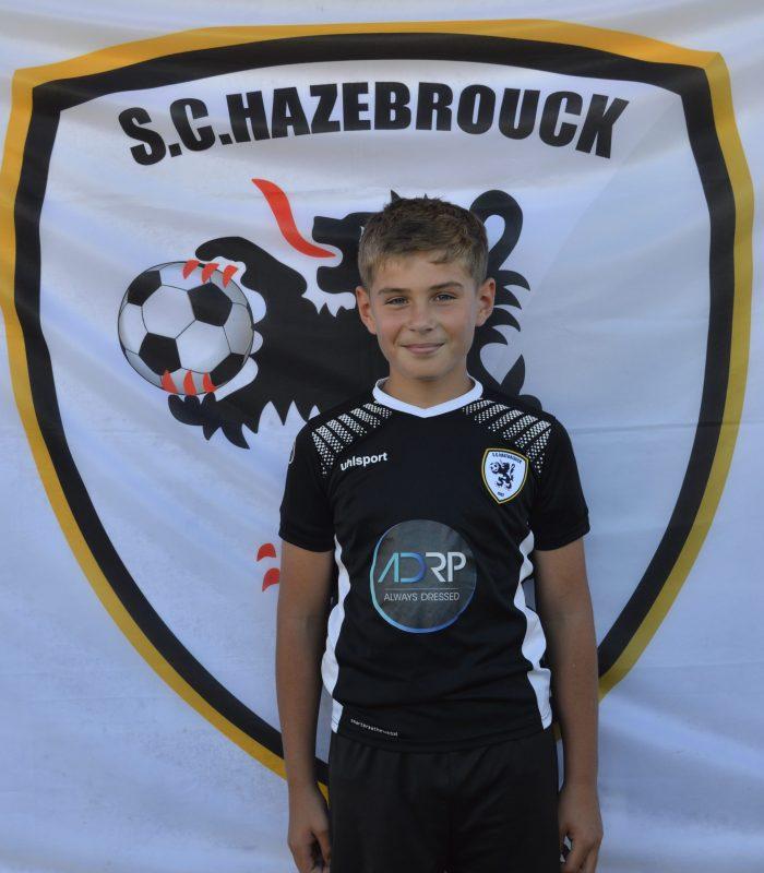 U13 Dernys Sacha SCH SC Hazebrouck Sporting Club 2021