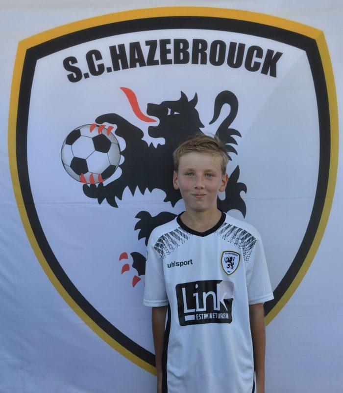 U13 Faucon Antonin SCH SC Hazebrouck Sporting Club 2021
