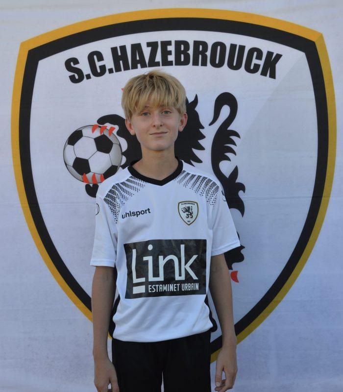 U13 Gabriel Rigaux SCH SC Hazebrouck Sporting Club 2021