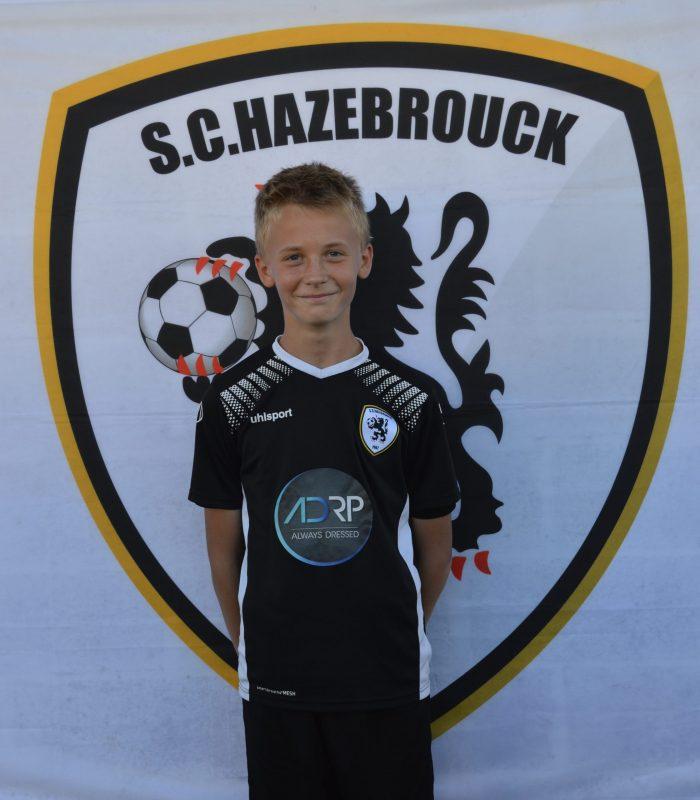 U13 Lesage Quentin SCH SC Hazebrouck Sporting Club 2021