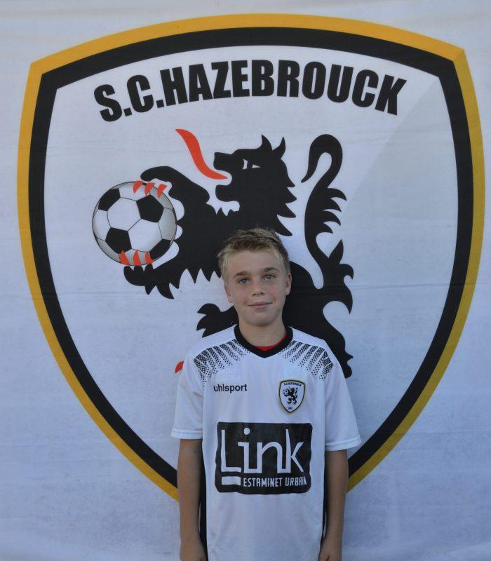 U13 Pollet Mathis SCH SC Hazebrouck Sporting Club 2021