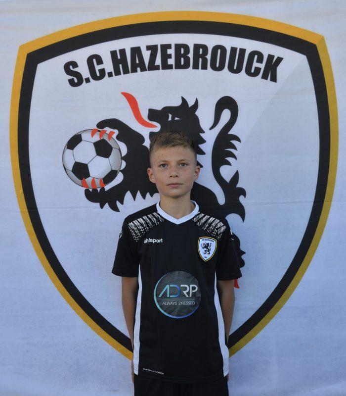 U13 Tom Dekeuwer SCH SC Hazebrouck Sporting Club 2021