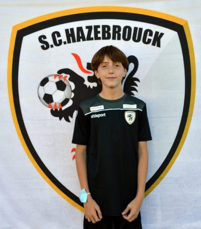 U14 Valentin Barbier SCH Hazebrouck SC Sporting