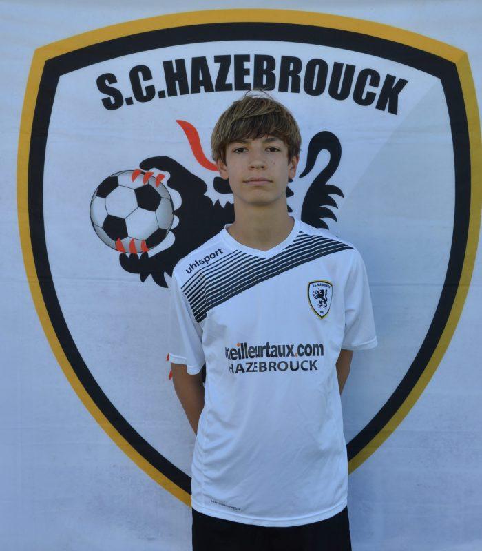 U15 Gabriel Degroote SCH Hazebrouck SC Sporting