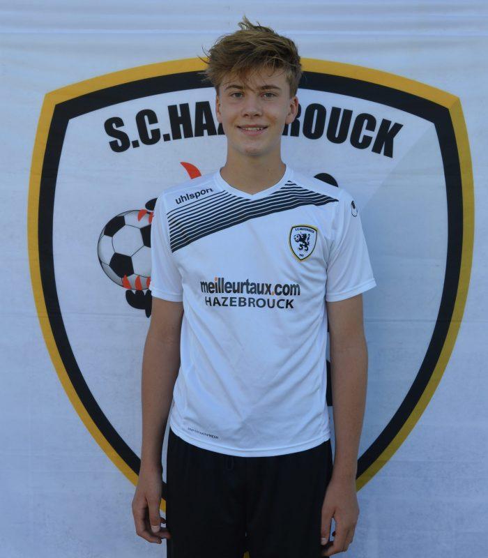 U15 Théo Duhammel SCH Hazebrouck SC Sporting
